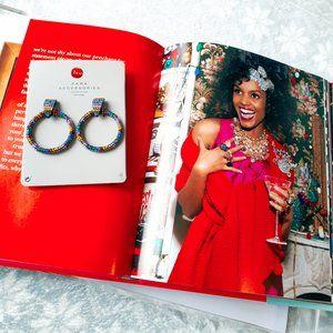NWT Zara multicoloured crystal hoop earrings
